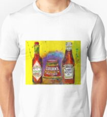 Tabasco - Gulden - Heinz Ketchup - Kitchen Art Unisex T-Shirt