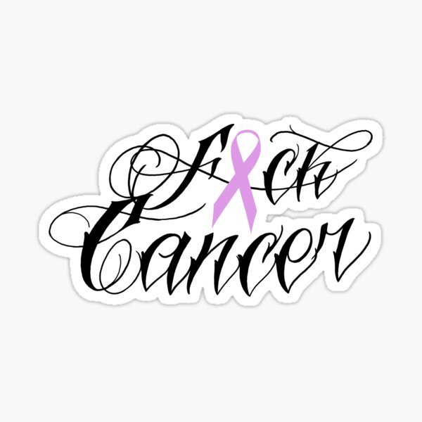 Cancer Fuck ... - with the CK being replaced with a Ribbon Word Socks
