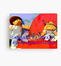 The Cabbage Patch Kids go on Tour to Uluru Canvas Print