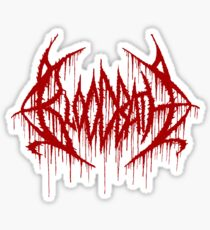 Band Bloodbath Logo Red Sticker