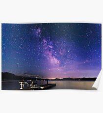 Purple Milky Way Galaxy  Poster