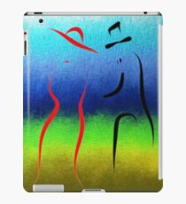 Evening Stroll Silhouette of Two Lovers iPad Case/Skin