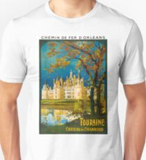 Vintage travel by rail ad for the Touraine France T-Shirt