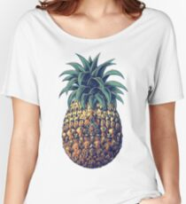 Ornate Pineapple (Color Version) Women's Relaxed Fit T-Shirt