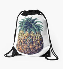Ornate Pineapple (Color Version) Drawstring Bag