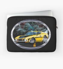 Muscle car doing a burnout in the streets Laptop Sleeve