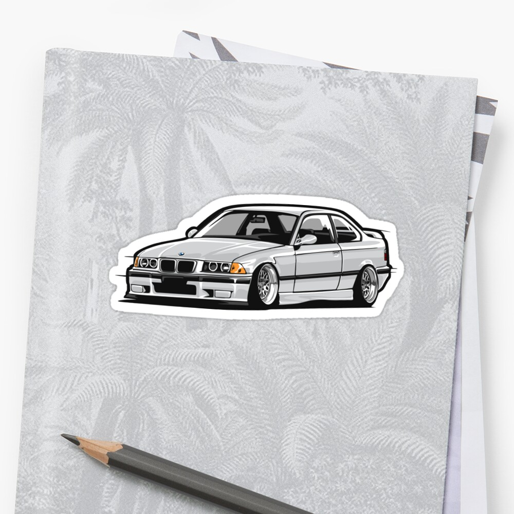 Stanced Out E36 Gray By StickerNation