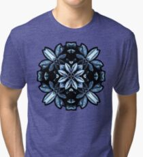 Metallic Leaves Mandala Tri-blend T-Shirt