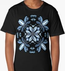 Metallic Leaves Mandala Long T-Shirt