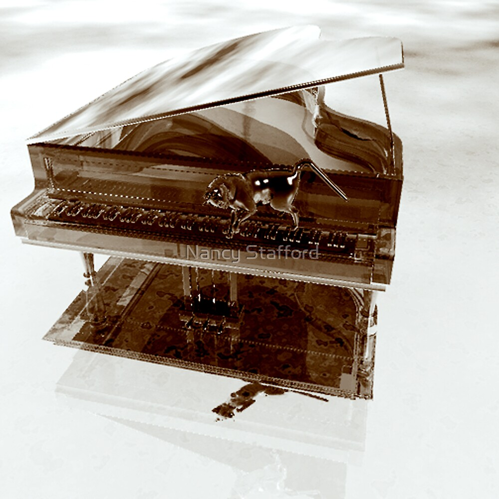 Harpsicord Player 2 (The Glass Cat) by Nancy Stafford