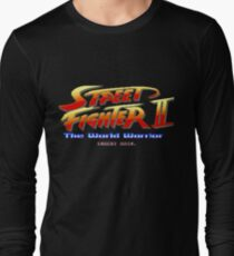 Street Fighter II - Pixel Art Long Sleeve T-Shirt