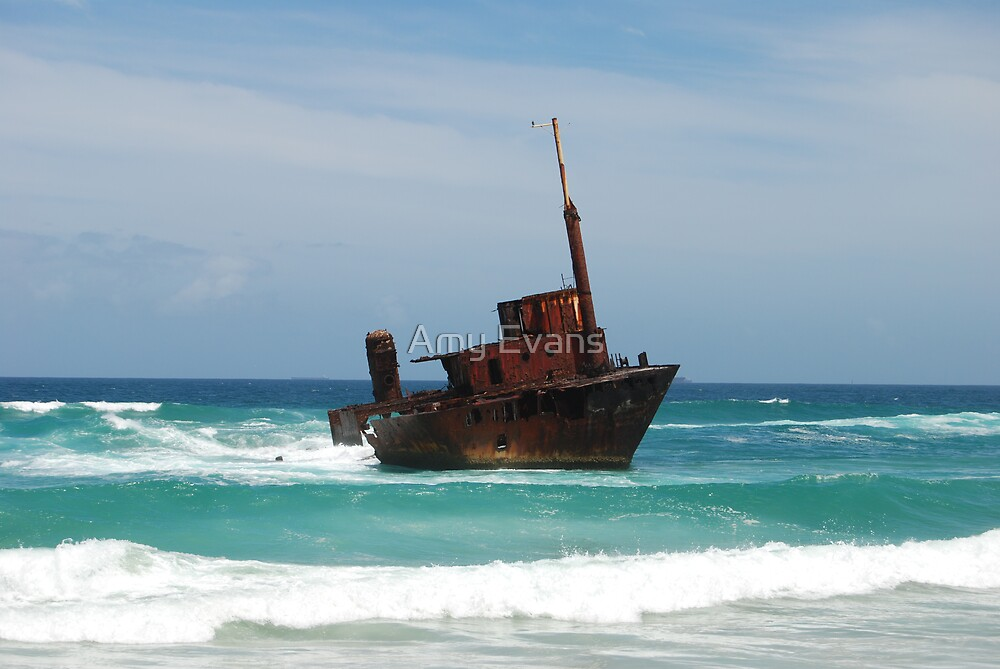 rusty shipwreck by Amy Evans