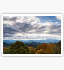 Building rain storm over the Smoky Mountains Sticker