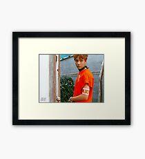 NCT127 FIRETRUCK HAECHAN Framed Print