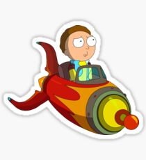 Rocket Morty Sticker