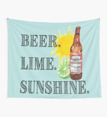 Beer, Lime, and Sunshine Wall Tapestry