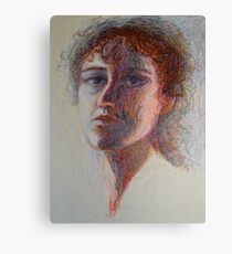 Two Faces - Portrait Of A Woman - Outsider Art Canvas Print