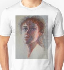 Two Faces - Portrait Of A Woman - Outsider Art T-Shirt