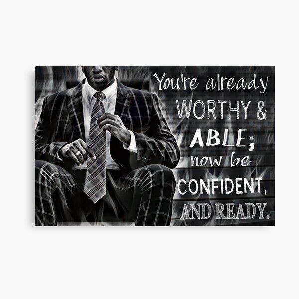 Black Man Confidence Canvas Print