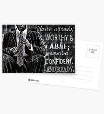 Black Man Confidence Postcards