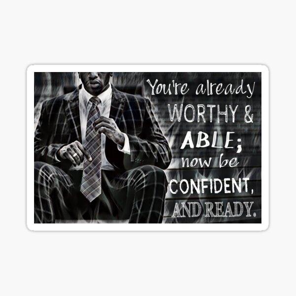 Black Man Confidence Sticker