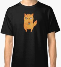 Neon Cat Funny Violent Gamers Lag Gaming Kitten Classic T-Shirt