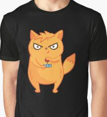 Neon Cat Funny Violent Gamers Lag Gaming Kitten Graphic T-Shirt