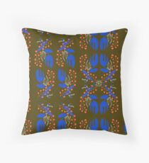 blue melodie Throw Pillow