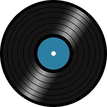 Vinyl LP(blue center) by nealdepinto
