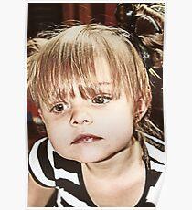 Little Girl Reflecting Poster