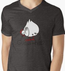 Guess what..? Chicken butt! Mens V-Neck T-Shirt
