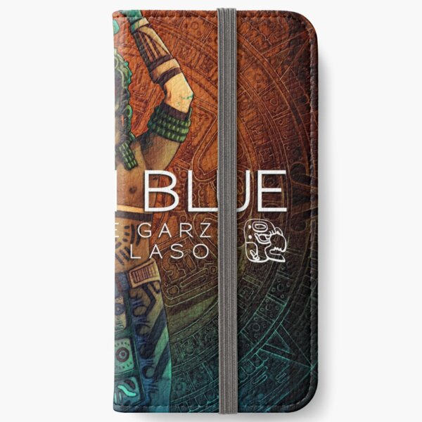 Sinister Grin Press Mayan Blue iPhone Wallet
