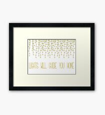 Coldplay Fix You Framed Print