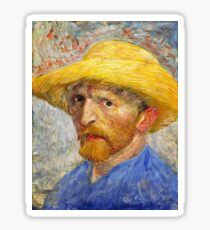 Vincent van Gogh - Self Portrait with Straw Hat (1887)	 Sticker