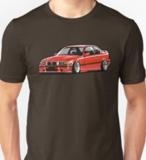 Stanced out E36 Red T-Shirt
