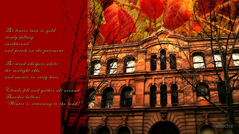 Autumn In The City - Digital Montage by reflector
