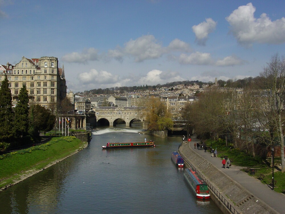 The river avon at Bath by Richard Elston