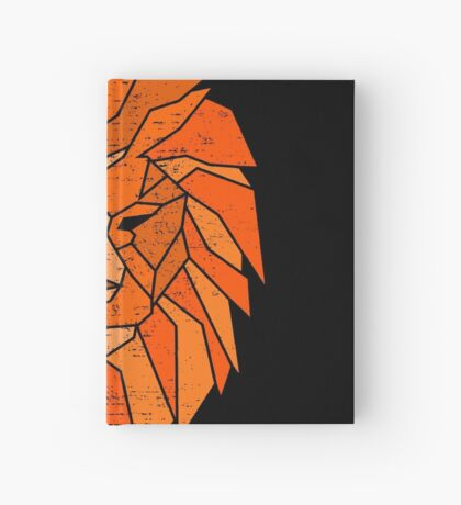 Polygonal Lion Face Hardcover Journal