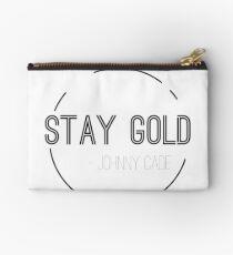 Minimalist Stay Gold Studio Pouch