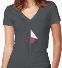 No Man's Sky Women's Fitted V-Neck T-Shirt