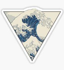 The Great Wave off Kanagawa Geometry Sticker