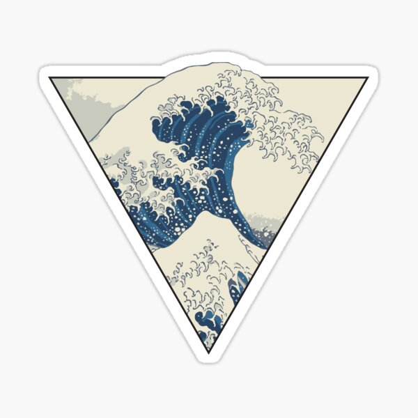 The Great Wave off Kanagawa Geometry Sticker