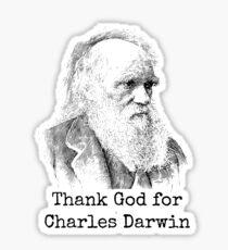 Thank God for Charles Darwin Sticker