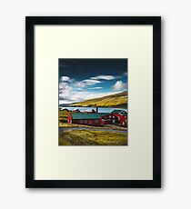 typical faroean houses Framed Print