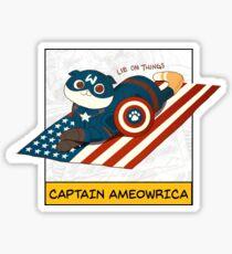 Captain Ameowrica Sticker