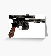Han Solo's Blaster Greeting Card