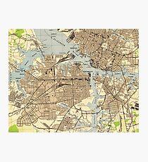 Vintage Norfolk & Portsmouth Virginia Map (1944) Photographic Print