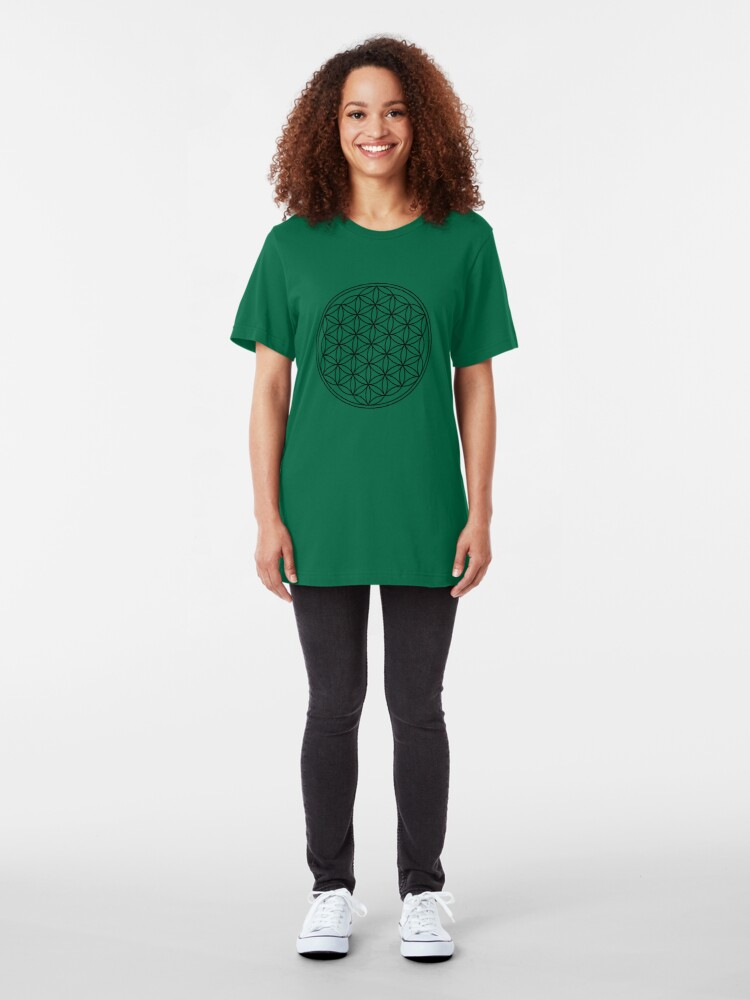 Alternate view of The flower of life Slim Fit T-Shirt