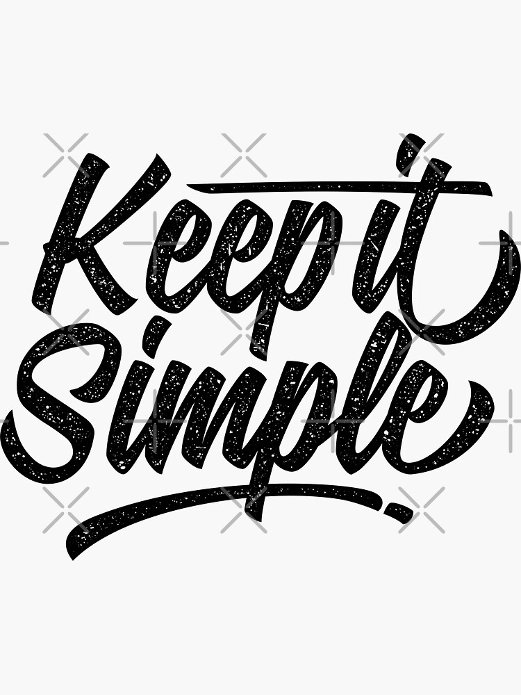 Keep it simple by angoes25