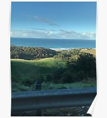 View from the hill up on wild dog road @ Apollo bay.  Poster